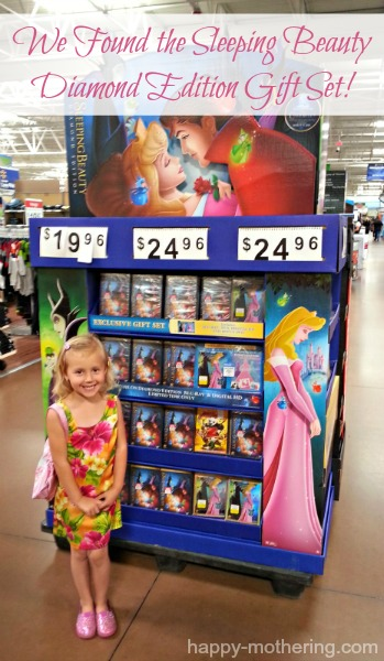 Kaylee posing with the Sleeping Beauty display