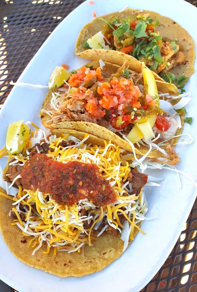 Taco plate at Azul in Tahoe South