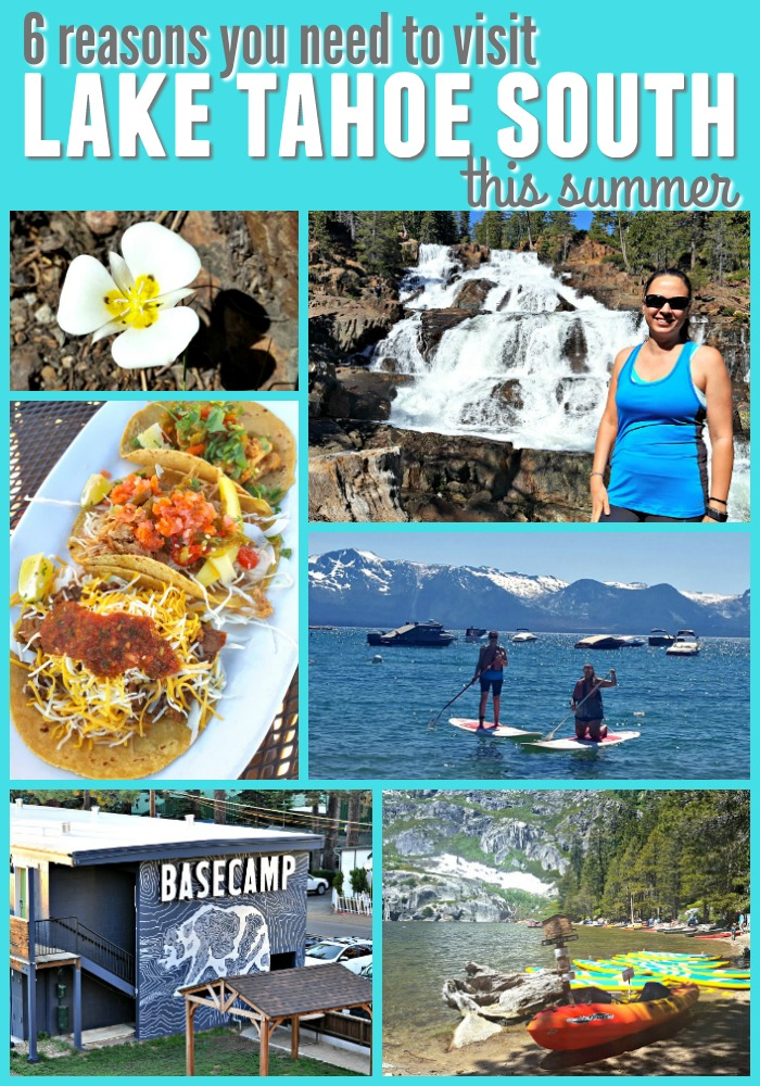 Collage of images from Chrystal's trip to Tahoe South