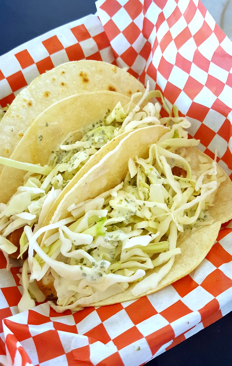 Fish tacos for lunch in Tahoe South