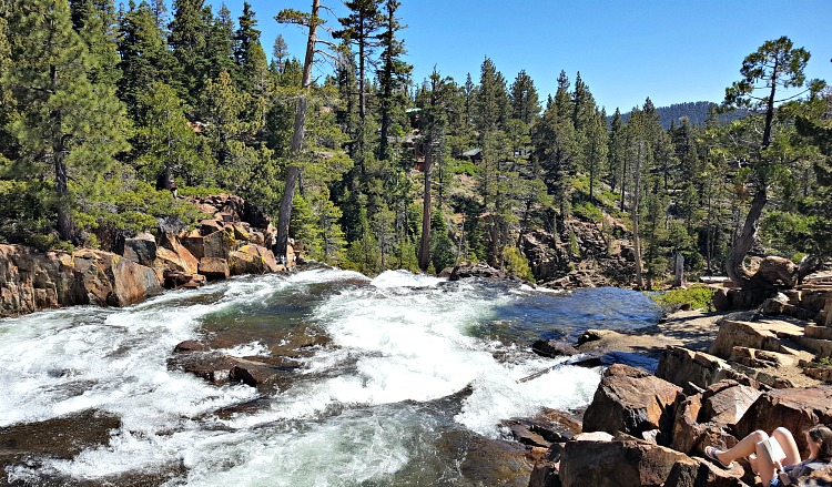 Stream while hiking in Tahoe South