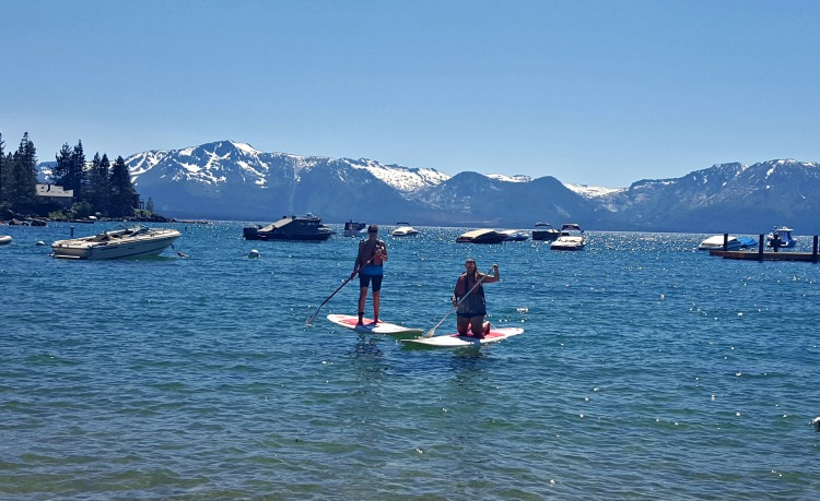 Paddleboarding in Tahoe South